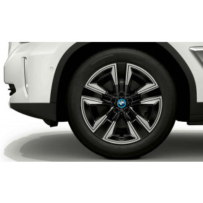 BMW Winterkompletträder Aerodynamik 842 jet black uni 19 Zoll iX3 G08 BEV RDCi