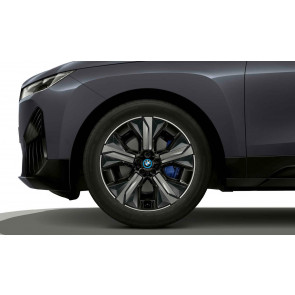 BMW Winterkompletträder Aerodynamikrad 1012 bicolor (midnight grey / glanzgedreht) 21 Zoll iX i20 RDCi