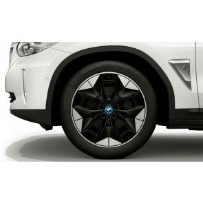 BMW Einleger Alufelge Aerodynamikrad 843 silber iX3 G08 BEV