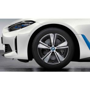 BMW Winterkompletträder Aerodynamikrad 852 bicolor (midnight grey / glanzgedreht) 17 Zoll 4er G26 RDCi
