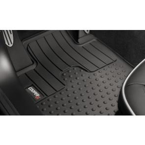 MINI Satz Gummimatten vorne schwarz mit Cooper S Logo R60 R61