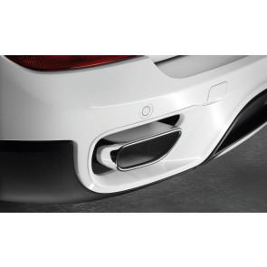 BMW Endrohrblenden Schwarzchrom X5 E70 LCI 35iX
