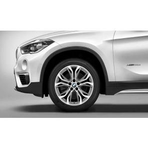 BMW Alufelge Y-Speiche 566 bicolor (ferricgrey / glanzgedreht) 7,5 J x 18 ET 51 Vorderachse / Hinterachse X1 F48 X2 F39