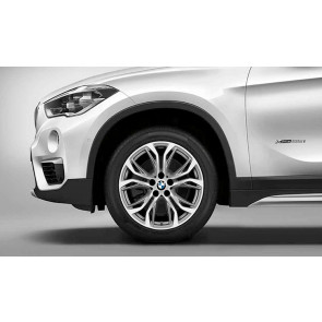 BMW Kompletträder Y-Speiche 566 bicolor (ferricgrey / glanzgedreht) 18 Zoll X1 F48 X2 F39 RDCi