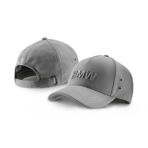 BMW Cap Wortmarke grau