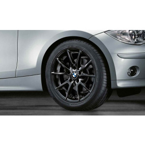 BMW Alufelge Doppelspeiche 178 7,5J x 17 ET 47 Schwarz Hinterachse BMW 1er E81 E82 E87 E88