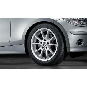 BMW Alufelge Doppelspeiche 178 7J x 17 ET 47 Silber Vorderachse / Hinterachse BMW 1er E81 E82 E87 E88