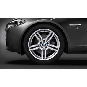 BMW Alufelge M Doppelspeiche 351 silber 8,5J x 19 ET 33 Vorderachse / Hinterachse 5er F10 F11 6er F06 F12 F13