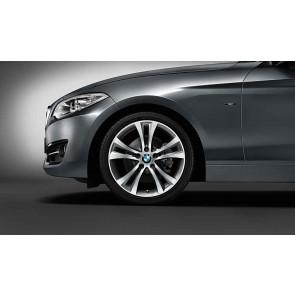 BMW Alufelge Doppelspeiche 384 bicolor (orbitgrey / glanzgedreht) 7,5J x 18 ET 45 Vorderachse 1er F20 F21 2er F22 F23