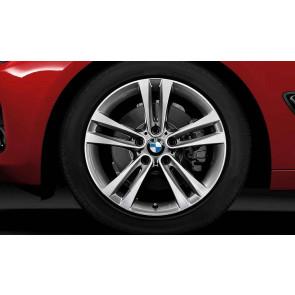 BMW Winterkompletträder Doppelspeiche 397 bicolor (ferricgrey / glanzgedreht) 18 Zoll 3er F34 GT