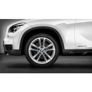 BMW Winterkompletträder Doppelspeiche 421 bicolor (silber / glanzgedreht) 18 Zoll X1 E84