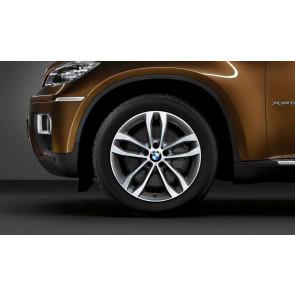 BMW Alufelge Doppelspeiche 424 bicolor (orbitgrey / glanzgedreht) 9J x 19 ET 18 Hinterachse X6 E71