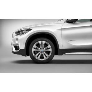 BMW Alufelge Doppelspeiche 567 bicolor (reflexsilber / glanzgedreht) 7,5 J x 18 ET 51 Vorderachse / Hinterachse X1 F48 bis Baujahr 03/2016