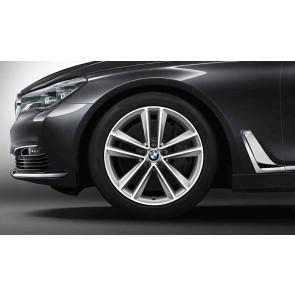 BMW Alufelge Doppelspeiche 630 reflexsilber 9,5J x 19 ET 39 Hinterachse 6er G32 7er G11 G12