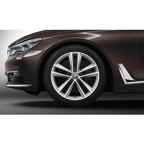 BMW Alufelge Doppelspeiche 630 bicolor (reflexsilber / glanzgedreht) 9,5J x 19 ET 39 Hinterachse 6er G32 7er G11 G12
