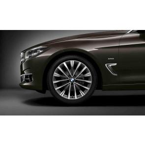 BMW Alufelge Doppelspeiche 674 bicolor (sphericgrey / glanzgedreht) 9J x 19 ET 42 Hinterachse 3er F34
