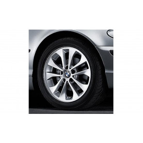 BMW Alufelge Doppelspeiche 98 silber 7J x 17 ET 47 Vorderachse / Hinterachse 1er E87 3er E46