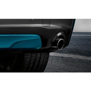 BMW Endrohrblende schwarzchrom 5er F07 F10 F11 6er F06 F12 F13