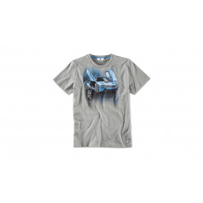 BMW i Herren T-Shirt i8 Druck grau melange