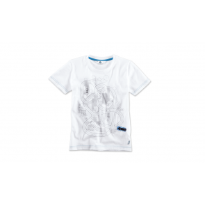 BMW i Kinder T-Shirt interactive weiß