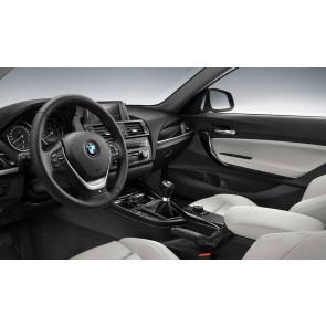 BMW Abdeckung für M Leder Sportlenkrad Airbag Multifunktion schwarz/perlglanz-chrom 1er F20 F21