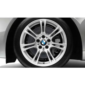 BMW Alufelge M Doppelspeiche 350 silber 9J x 18 ET 44 Hinterachse 5er F10 6er F06 F12 F13