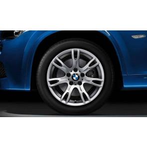 BMW Kompletträder M Doppelspeiche 354 silber 17 Zoll X1 E84