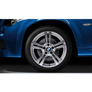 BMW Alufelge M Doppelspeiche 355 silber 9J x 18 ET 41 Hinterachse X1 E84