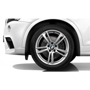 BMW Kompletträder M Doppelspeiche 369 silber 19 Zoll X3 F25 X4 F26 (Mischbereifung)