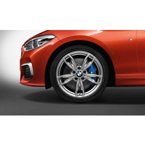 BMW Kompletträder M Doppelspeiche 436 ferricgrey 18 Zoll 1er F20 F21 2er F22 F23 (Mischbereifung)
