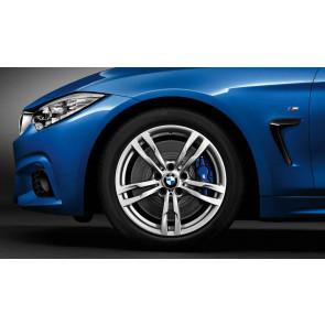 BMW Alufelge M Doppelspeiche 441 silber 8,5J x 18 ET 47 Hinterachse 3er F30 F31 4er F32 F33 F36