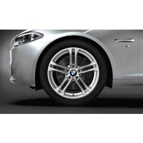 BMW Alufelge M Doppelspeiche 613 silber 9J x 18 ET 44 Hinterachse 5er F10 6er F06 F12 F13