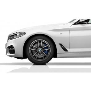 BMW Alufelge M Doppelspeiche 662 ferricgrey 9J x 18 ET 44 Hinterachse 5er G30 G31