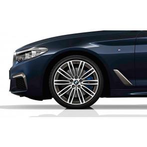 BMW Alufelge M Doppelspeiche 664 bicolor (orbitgrey / glanzgedreht) 8J x 19 ET 30 Vorderachse / Hinterachse 5er G30 G31