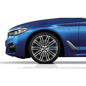 BMW Alufelge M Doppelspeiche 664 titanium matt 9J x 19 ET 44 Hinterachse 5er G30 G31