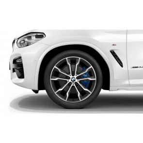 BMW Winterkompletträder M Doppelspeiche 699 bicolor (orbitgrey / glanzgedreht) 20 Zoll X3 G01 X4 G02 RDCi
