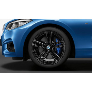 BMW Alufelge M Doppelspeiche 719 jet black uni 7,5J x 18 ET 45 Vorderachse / Hinterachse BMW 1er F20 F21 2er F22 F23