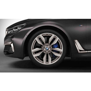 BMW Alufelge M Doppelspeiche 760 ceriumgrey 10J x 20 ET 41 Hinterachse BMW 7er G11 G12