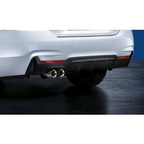 BMW M Performance Blende Stoßfänger hinten zweiflutig 4er F32 F33 F36