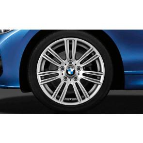 BMW Kompletträder M Sternspeiche 383 silber 17 Zoll 1er F20 F21 2er F22 F23