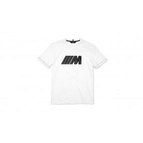 BMW M Herren T-Shirt weiß mit Carbon Applikation Gr. XXXL