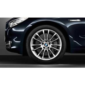 BMW Kompletträder M V-Speiche 302 silber 19 Zoll 5er F07 7er F01 F02 F04 (Mischbereifung)
