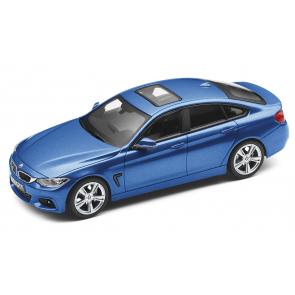 BMW 4er Gran Coupé F36 blau Miniatur 1:43