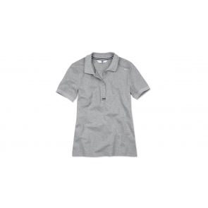 BMW Damen Poloshirt grau melange