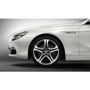 BMW Alufelge Sternspeiche 367 bicolor (silber / glanzgedreht) 9J x 19 ET 44 Hinterachse 5er F10 6er F06 F12 F13