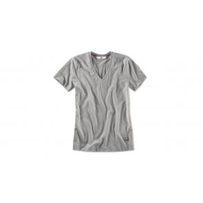 BMW Damen T-Shirt V-Ausschnitt aluminium grey melange