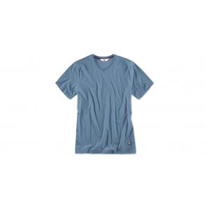 BMW Herren T-Shirt V-Ausschnitt steel blue