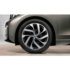 BMW Winterkompletträder Turbinenstyling 428 bicolor (schwarz / glanzgedreht) 19 Zoll i3 RDCi (mit Laufrichtung)