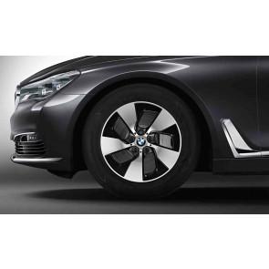 BMW Alufelge Turbinenstyling 645 bicolor (orbitgrey / glanzgedreht) 7,5J x 17 ET 27 Vorderachse / Hinterachse BMW 5er G30 G31 6er G32 7er G11 G12