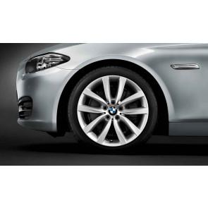 BMW Alufelge V-Speiche 331 silber 9J x 19 ET 44 Hinterachse 5er F10 6er F06 F12 F13